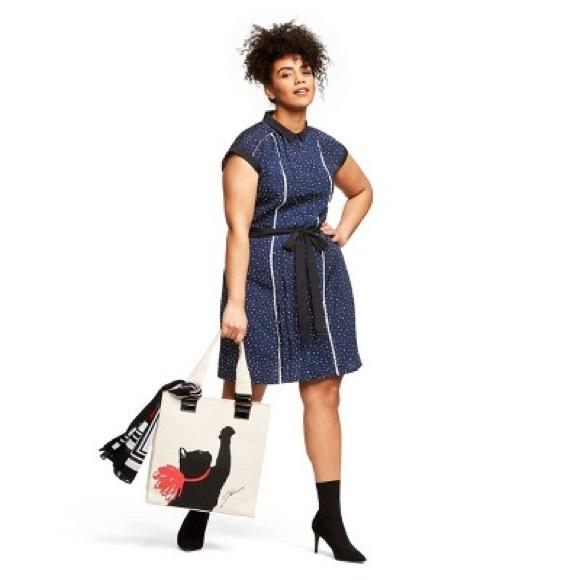 Jason Wu Dresses & Skirts - Jason Wu for Target navy polka dot dress